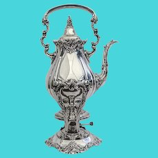 Wallace Baroque Kettle Stand Burner Set Silverplate