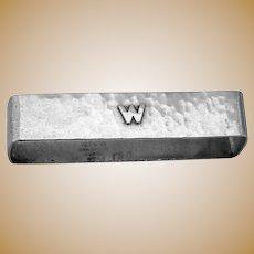 Narrow Hammered Napkin Ring Lebolt Sterling Mono W