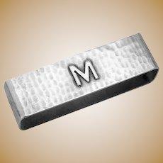 Large Hammered Napkin Ring Lebolt Sterling Mono M