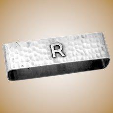 Large Hammered Napkin Ring Lebolt Sterling Mono R