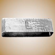 Large Hammered Napkin Ring Lebolt Sterling Mono L