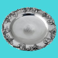 Grapevine Centerpiece Bowl Pedestal Base Reed Barton 1900s Mono