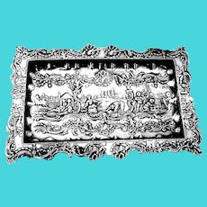 Dutch Ornate Scenic Dresser Tray Footed 835 Standard Silver 1890