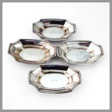 Tiffany Co Hamilton Nut Cups Set Sterling Silver 1938 Mono
