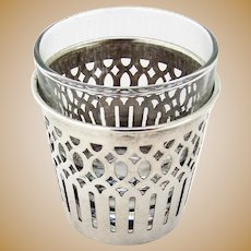 Cutwork Frame Shot Glass Sterling Silver Mono
