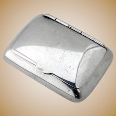 Pillow Form Pill Box Hinged Lid Blackinton Sterling Silver 1940