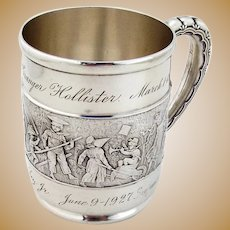 Tiffany Co Childrens Parade Cup Mug Sterling Silver Inscribed