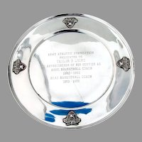 West Point Presentation Plate Applied Medallions International Sterling Silver