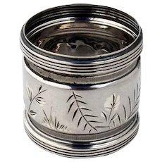 Gorham Aesthetic Napkin Ring Banded Rim Sterling Silver 1881