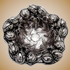 High Relief Repousse Nut Cup Blackinton Sterling Silver 1910