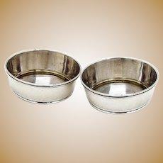 Gorham Open Salt Dishes Pair Sterling Silver 20th Century