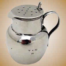 English Small Jug Form Shaker Sterling Silver 1895 Chester Mono