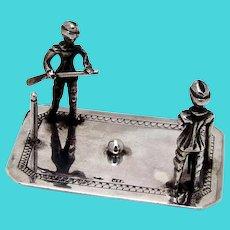 Dutch Miniature Scenic Croquet Game Figurine 830 Standard Silver 1890