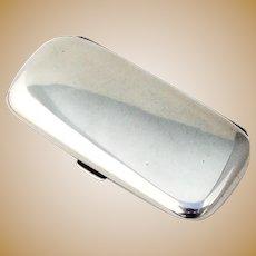 Austrian Small Cigarette Case Gilt Interior 900 Standard Silver 1916
