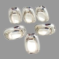 Madam Morris 6 Nut Cups Set Whiting Sterling Silver 1908