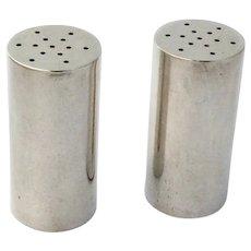 Allan Adler Cylinder Form Salt Pepper Shakers Sterling Silver