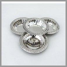 Floral Border Nut Cups Set Lipman Bros Sterling Silver Canada