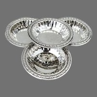Floral Border Nut Cups Set Lipman Bros Sterling Silver Canada