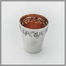Art Nouveau German Shot Cup Gilt Interior Wilhelm Binder 800 Silver