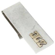 Leonore Doskow Money Clip Sterling Silver 14 K Gold Mono