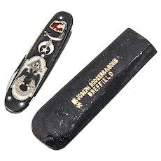 Masonic Pocket Knife Nail File Gun Metal Henckels Blade 1930