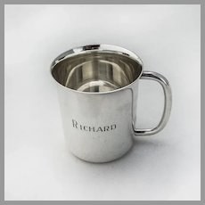 Towle Baby Childs Cup Heavyweight Sterling Silver Inscribed