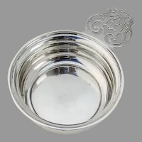 Wallace Baby Bowl Porringer Keyhole Handle Sterling Silver Mono