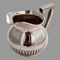 Fluted Creamer Dominick Haff Sterling Silver 1886 Date Mark Mono
