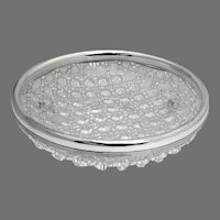 Gorham Cut Glass Bowl Hobnail Pattern Sterling Silver 1900