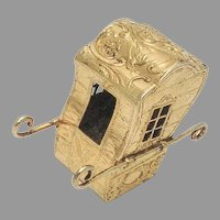 German Sedan Chair Figurine Gilt 800 Standard Silver 1890