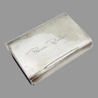 English Tinder Box Inset Striker Asprey Sterling Silver 1895 Mono