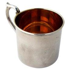Gorham Baby Childs Cup Gilt Interior Sterling Silver No Mono