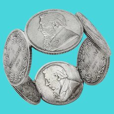 South African Shilling Coin Silver Napkin Ring 1900