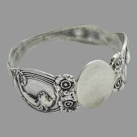 Queen Of The Flowers Napkin Ring Unger Bros Sterling Silver 1903