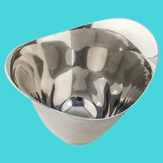 Tiffany Modernist Footed Bowl Sterling Silver