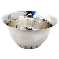 Arts And Crafts Hammered Bowl Marshall Field Co Sterling Silver 1930