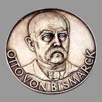 German Otto Von Bismarck Medal 1000 Pure Silver 1959