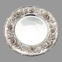 Repousse Bread Plate Kirk Son Inc Sterling Silver 1910
