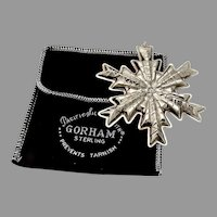 Gorham Snowflake Christmas Ornament Sterling Silver 1978 Boxed