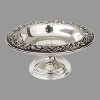 Repousse Short Compote Kirk Son Inc Sterling Silver 1930s