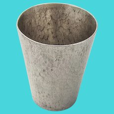 Japanese Toyokoki Hammered Shot Cup 990 Sterling Silver