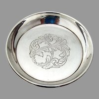 Towle Engraved Coaster No 201 Sterling Silver