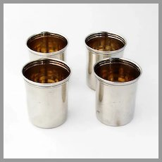 Lunt 4 Shot Cups Set No 44 Sterling Silver