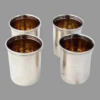 Lunt 4 Shot Cups Set No 44 Sterling Silver