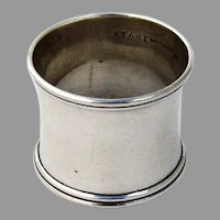 Double Banded Rim Plain Napkin Ring Simons Bros Sterling Silver