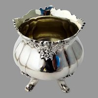 Wallace Baroque Footed Waste Bowl Gilt Interior Silverplate