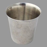 Plain Design Shot Cup International Sterling Silver