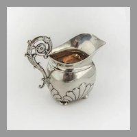 German Baroque Shell Creamer Gilt Interior 812 Standard Silver 1840