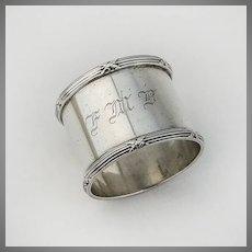 Ribbon Thread Napkin Ring International Sterling Silver 1900 Mono FMB