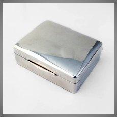 German Cigarette Box Wooden Liner Sterling Silver 1935